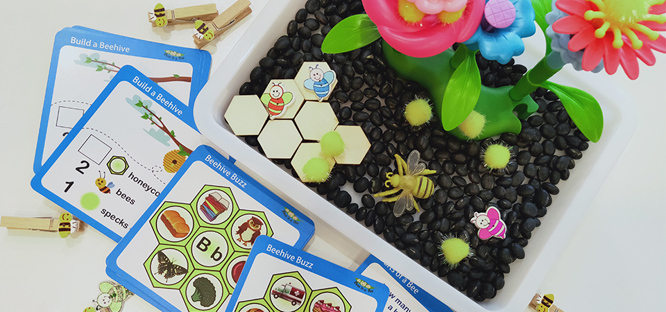 Peas-in-box-buzzy-bee-activity