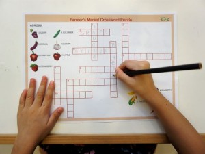 Free Printable: Farmer's Market Crossword Puzzle